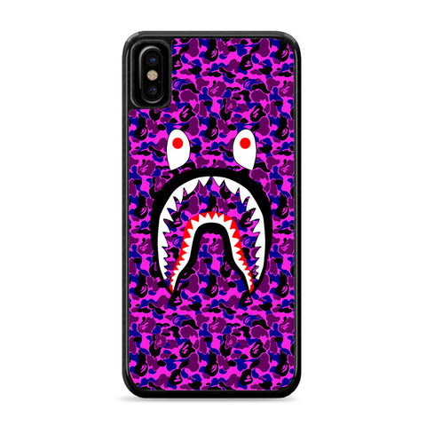 Bape Camo Shark Face Purple iPhone Xs Case | Caserisa