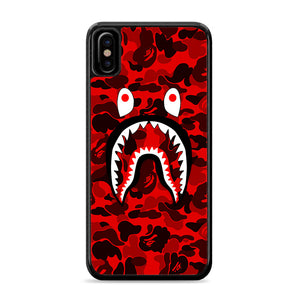 Bape Camo Shark Face Red iPhone Xs Case | Caserisa