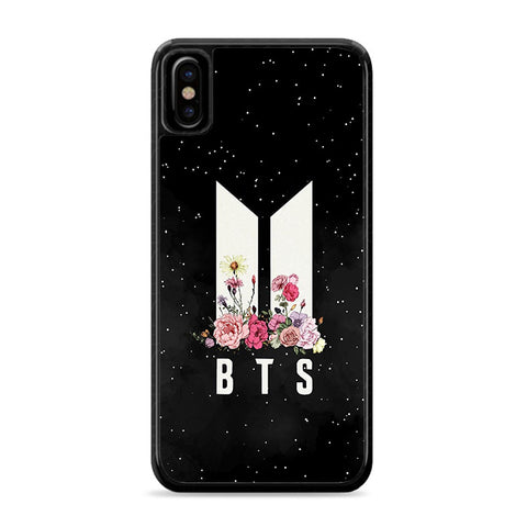 Army BTS Floral iPhone Xs Case | Caserisa