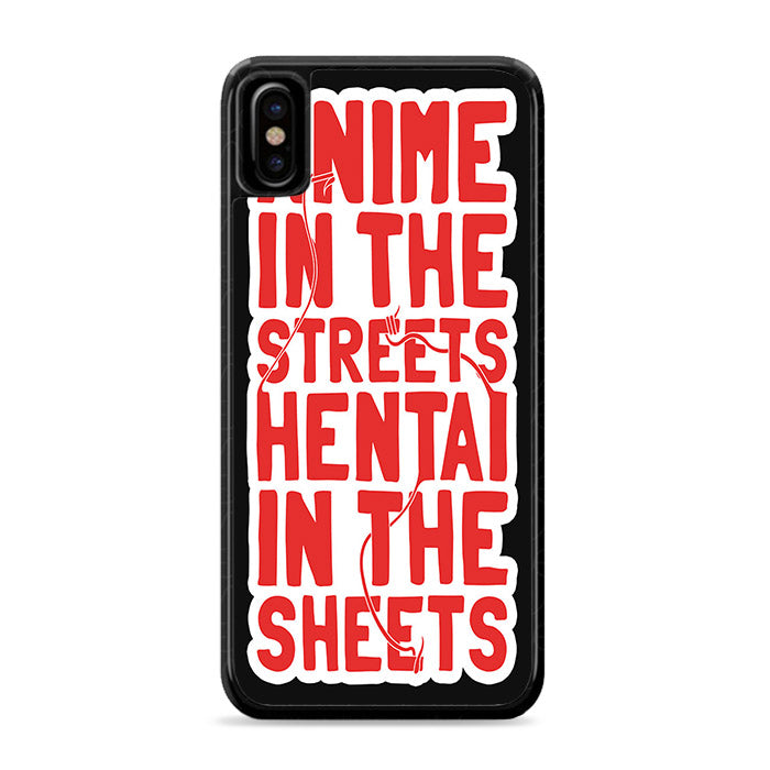 Anime in the streets iPhone Xs Case | Caserisa
