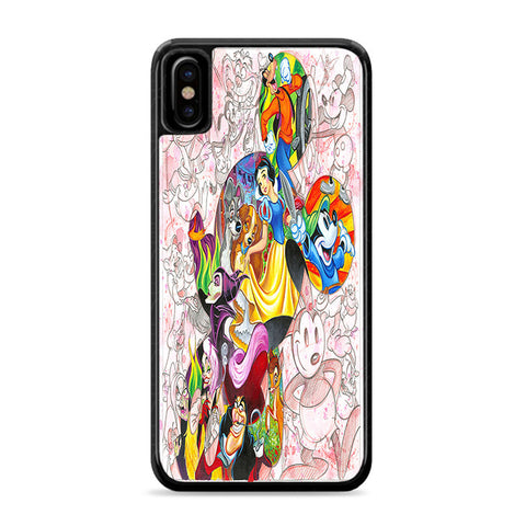Disney Colorful Characters iPhone Xs Case | Caserisa