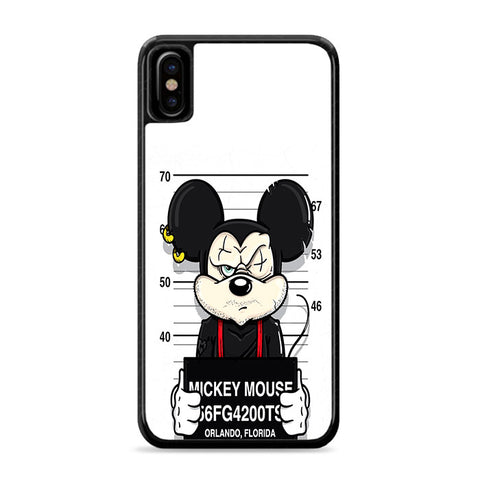 Mickey Mouse on Jail iPhone Xs Case | Caserisa