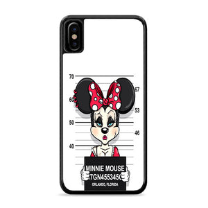 Minnie Mouse on Jail iPhone Xs Case | Caserisa