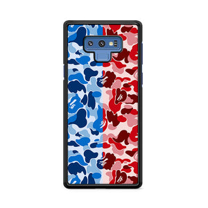 Bape Camo Blue Red Samsung Galaxy Note 9 Case | Caserisa