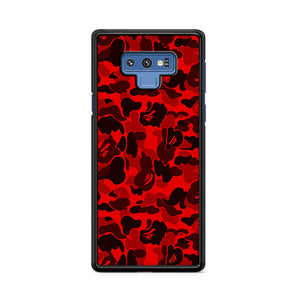 Bape Camo Red Samsung Galaxy Note 9 Case | Caserisa