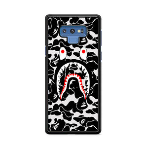 Bape Camo Shark Face Black Samsung Galaxy Note 9 Case | Caserisa