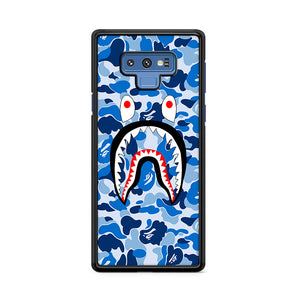 Bape Camo Shark Face Blue Samsung Galaxy Note 9 Case | Caserisa