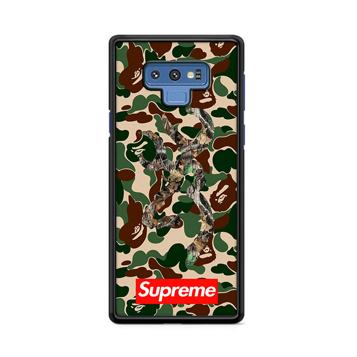 Bape Camo Deer Supreme Logo Red Samsung Galaxy Note 9 Case | Caserisa