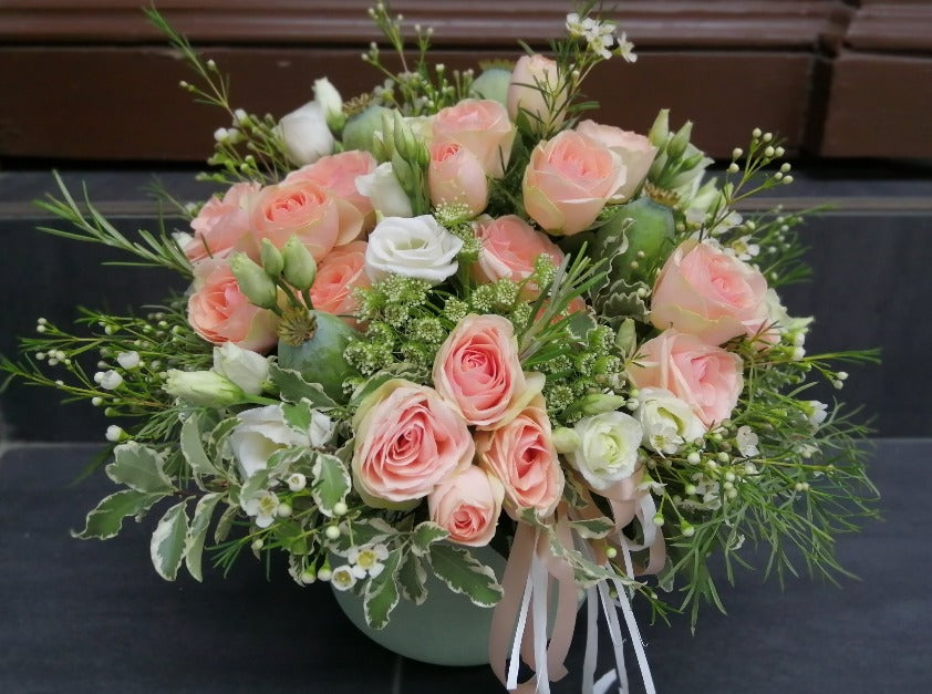 Flower Box with Spray Roses