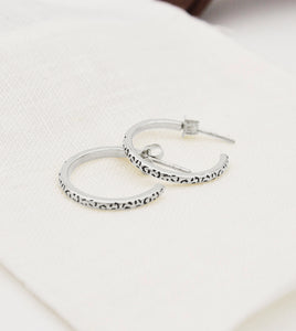 Sterling Silver Spotty Hoops