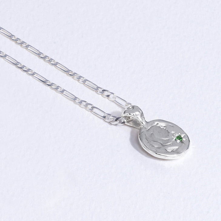 Baby Apple-of-my-Eye Pendant - Silver