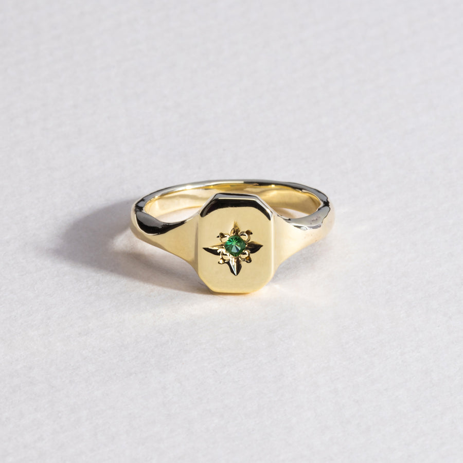 Dearest Signet Ring - 9k Gold