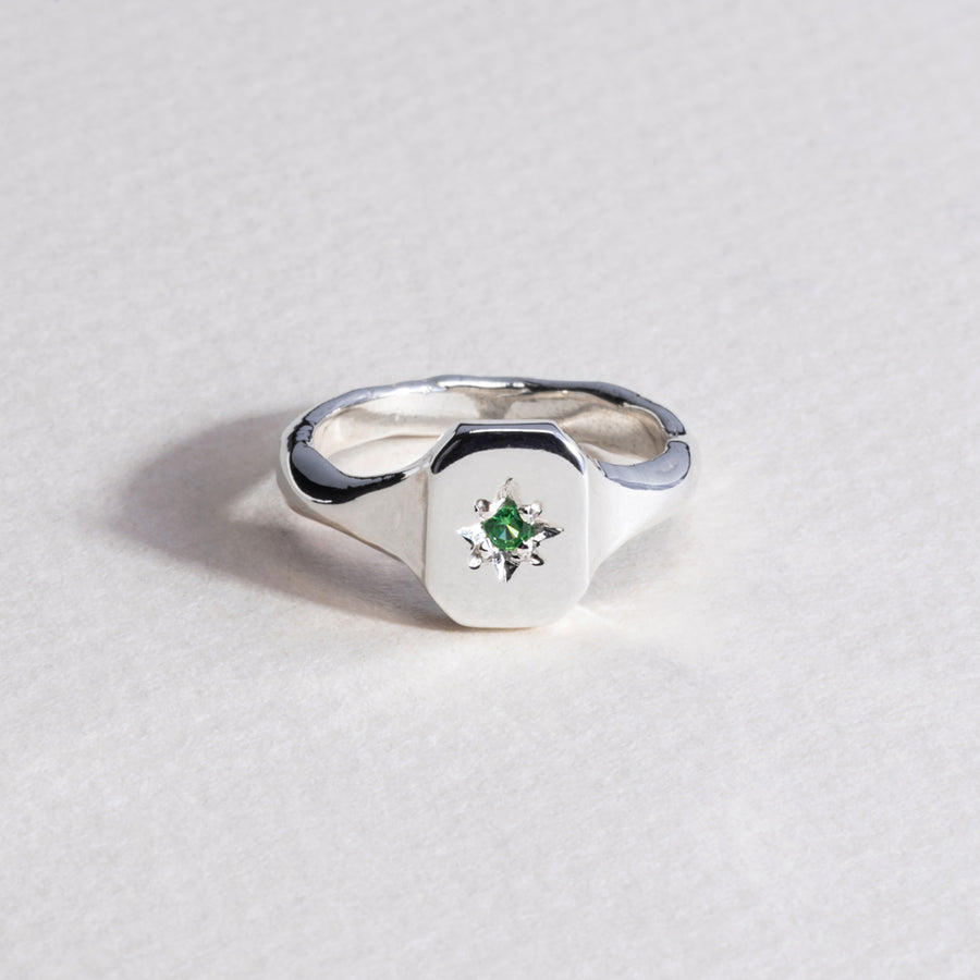 Dearest Signet Ring - Silver
