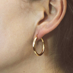 9ct Gold Mama Hoops