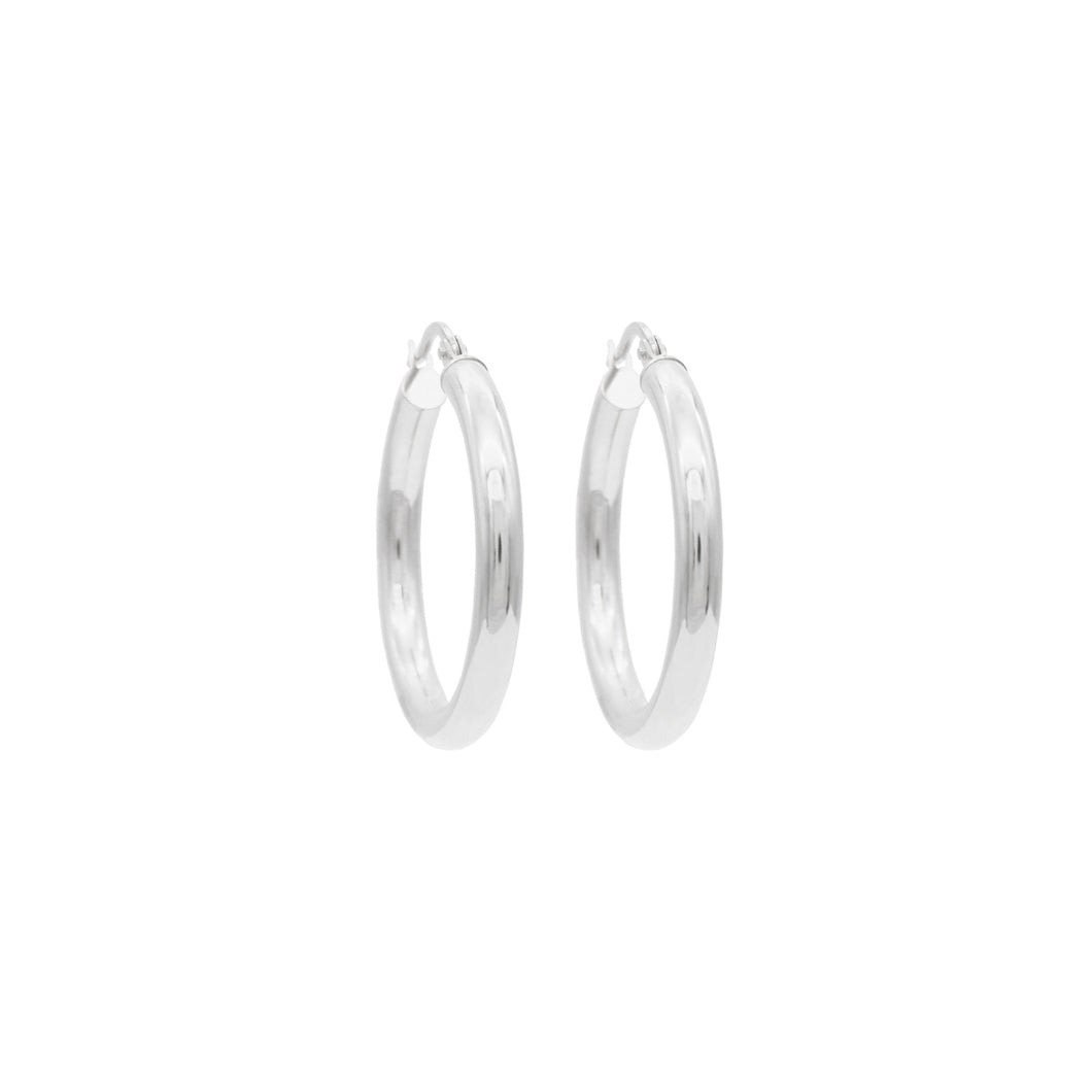 Sterling Silver Mama Hoops
