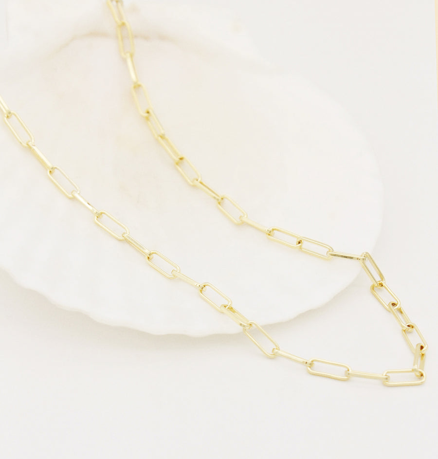 Paperclip Chain - Gold Plated
