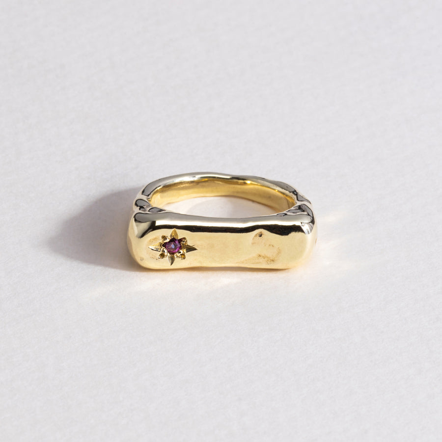 Ride-or-Die Signet Ring - Brass