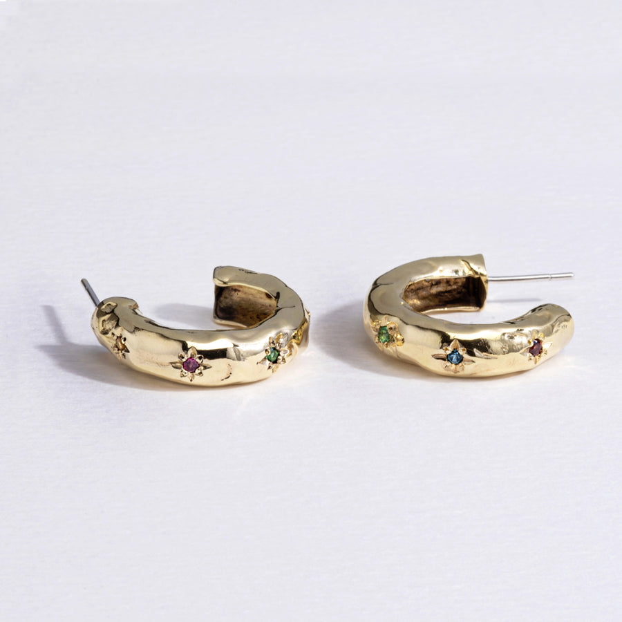 Totally Smitten Hoops - 9k Gold