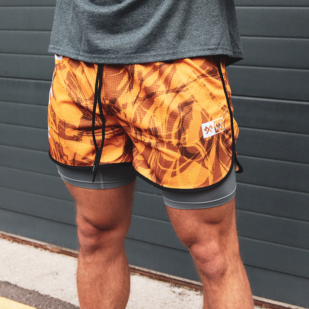 RUNNING SHORTS GOLD