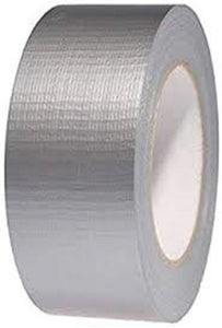 X 18 Holdfast Duct Tape (Cloth Tape) - 70mm x 45m Colour Silver Qty Box of 18