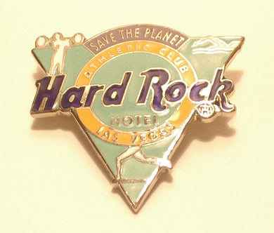 LAS VEGAS HARD ROCK HOTEL ATHLETIC CLUB SAVE THE PLANET B19-134 COLLECTORS PIN