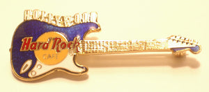 Hollywood B19-135 Hard Rock Cafe Guitar enamel Pin Vintage Collectible Very Good
