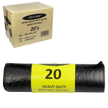 X 400 EXTRA HEAVY DUTY REFUSE SACKS POLY-LION 20 SACKS ON ROLLS 18''X 29''X 34'' 80g