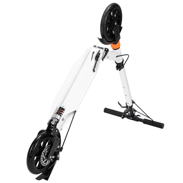 Scooter For Adult&Teens,3 Height Adjustable Easy Folding Double Shock Absorber White
