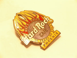 Phoenix 25 Years of Rock HARD ROCK CAFE PIN B15 D-203 Anniversary (HRC) 3 lines
