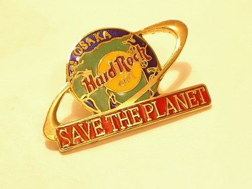 Hard Rock Cafe B7-209 OSAKA SAVE THE planet pin sold by Ashcraft GB