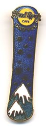 Denver dark blue Snowboard with Snowflakes HRC PIN B15-439