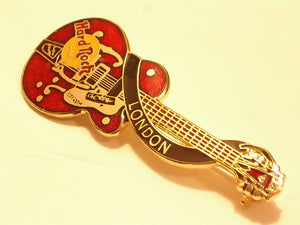 LONDON 2LINES HARD ROCK LOGO B17X-228 Gold Appearance Collectible-Very Good