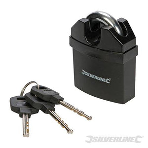 Silverline 245032 Closed Shackle PVC-Coated Padlock 61mm