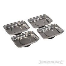 Silverline 250007 Magnetic Tray Set, 95 x 65 mm - 4 Pieces