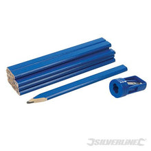 Silverline 250227 Carpenters Pencils and Sharpener - Set of 13