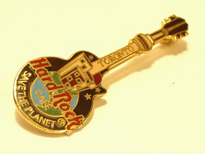TORONTO SAVE THE PLANET HARD ROCK CAFE enamel PIN B16C-253 3 lines