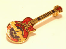 WHISTLER RED GUITAR WITH MOUNTAIN BIKER MOJO 3LC B-267 hrc enamel pin mint