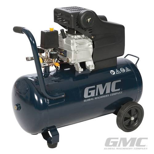 GMC GAC1500 - 2hp Air Compressor - 50Ltr Tank Capacity Garage Workshop Air Tool