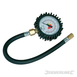 Silverline 282411 Tyre Dial Gauge 0-100 psi (0-10 bar)