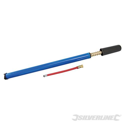 Silverline 380241 Bike Tyre Hand Pump 50psi 400mm