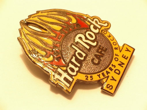 SYDNEY 25 Years of Rock HARD ROCK CAFE PINS B15D-407 Hard Rock Café collector's pin badge
