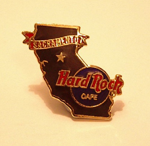SACRAMENTO B15*41 Black California shaped Pin - large Stamp with