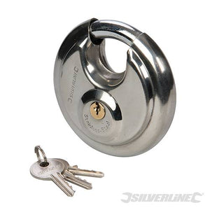 Silverline 436750 Disc Padlock, 90 mm by Silverline