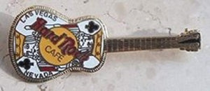 Las Vegas Martin acoustic Guitar with King of Clubs Hard Rock Cafe Pin