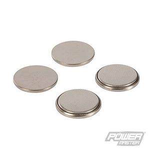 Powermaster 511250 4 Pack Button Cell Batteries Alkaline LR44, Silver