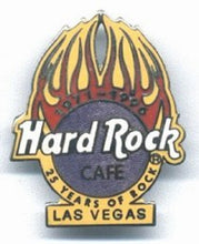Las Vegas The Original 25 Years of Rock - yellow flame Logo