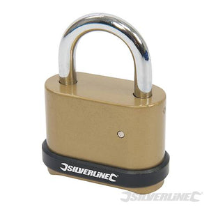 Silverline 472645 4-Digit Combination Padlock Zinc Alloy 50mm