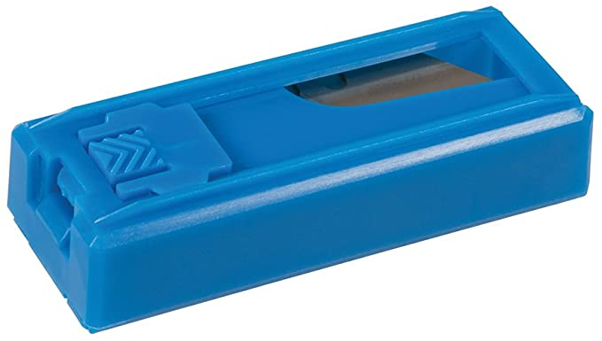 Silverline CT09 0.6mm Utility Knife Blades Pack of 10 in Plastic safety dispenser