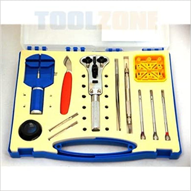 Toolzone 28Pc Watch Repair Set, Strap Adjustment, Battery Replacement Back Removal Kit Unknown Binding