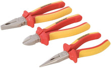 Silverline 282501 VDE Expert Pliers Set 3-Pieces Various Sizes
